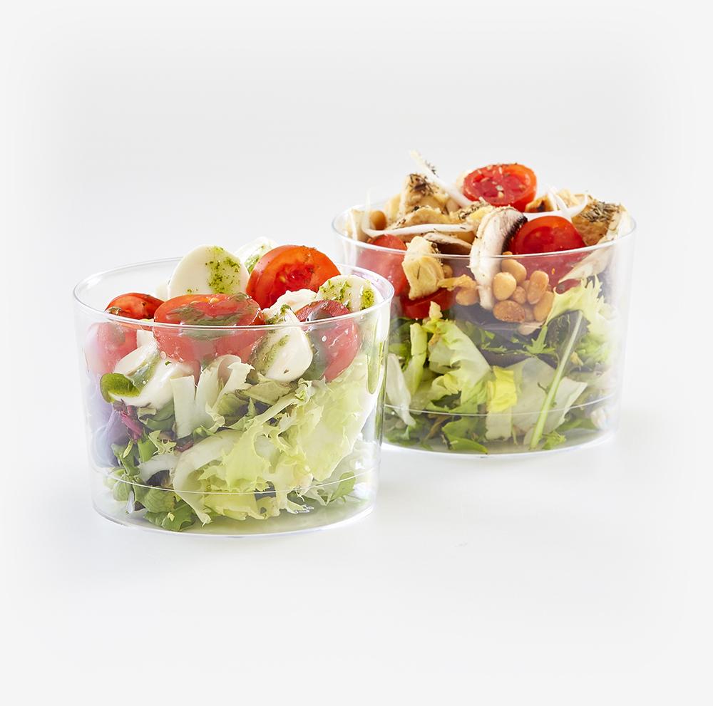 6 Mini ensaladas de 2 variedades en caja