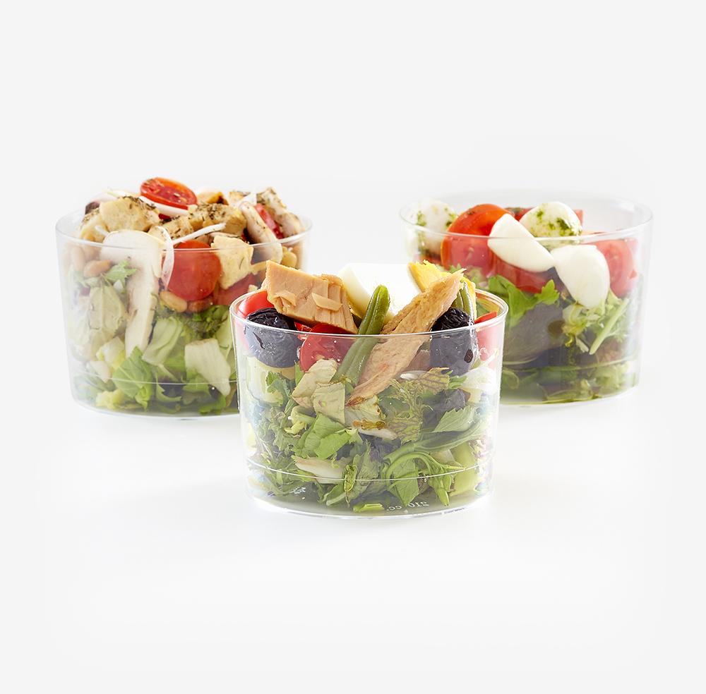 9 Mini ensaladas de 3 variedades en caja