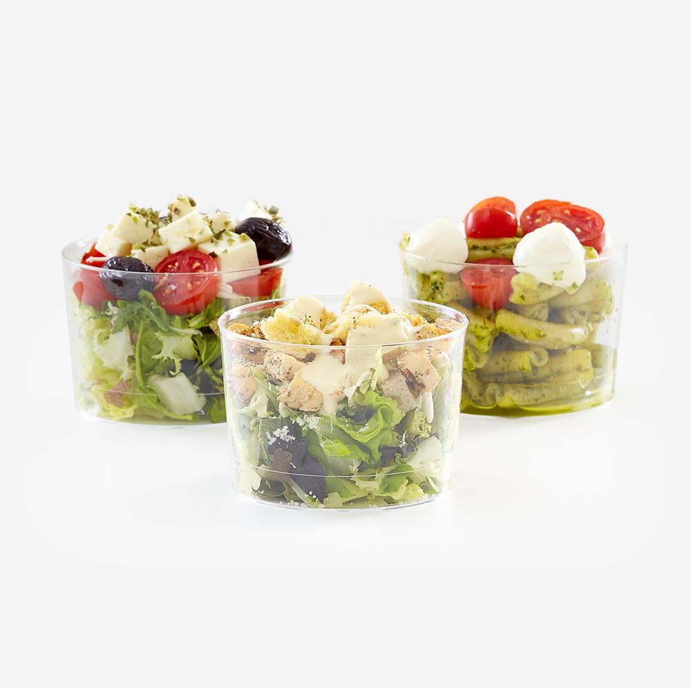 12 Mini ensaladas de 3 variedades en caja