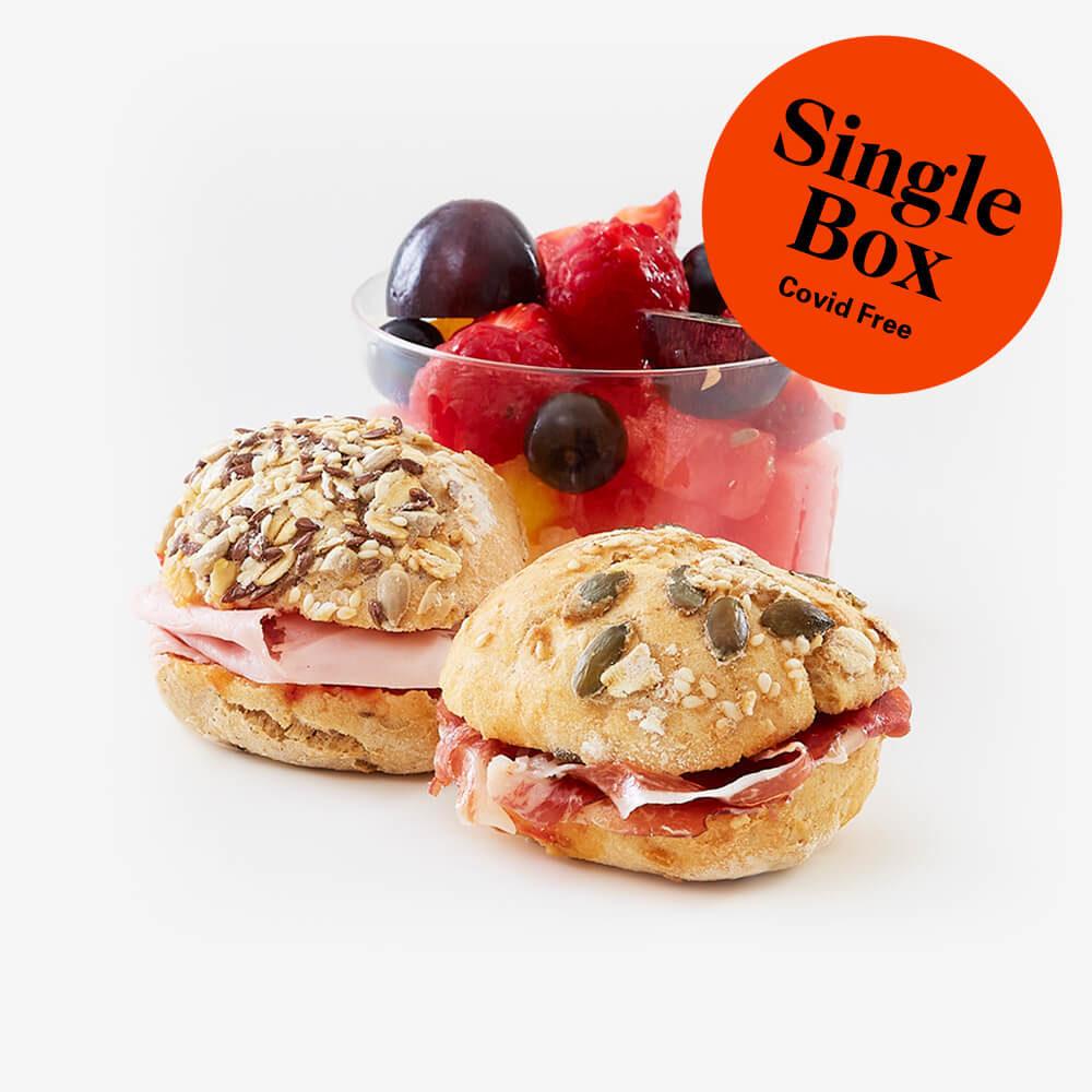 Single lactosa free breakfast box
